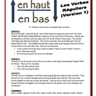 French Regular Verb Partner Activities (Speak, Read)-Version 1