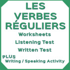 French Regular Verbs (-er, -ir, -re) - Written Practice Ex