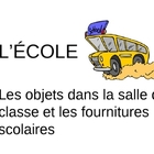 French School Vocabulary PowerPoint