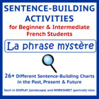 French Sentence-Building Oral Activity - La phrase mystèr