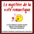 French Short Story + Questions - Ideal for Valentine's Day