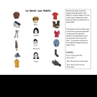 French Speaking Activity with Clothing