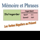 French Speaking Activity with Reg Verbs (Memory with Sentences)
