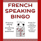 French Speaking Bingo Activity