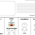 French Story Elements retelling flap book for any book