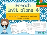 French Unit plans 4 for beginners (household activities, -