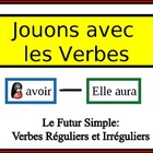 French Verb Form Writing Practice Activity: Regular and Ir