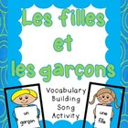 French Vocabulary Activity (song):  fille and garon