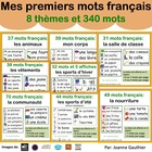 French Vocabulary Word Walls - Animals, Food, Body Parts and More