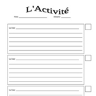 French Warm-Up Activity and Participation Log