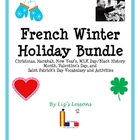 French Winter Bundle: December-March Holiday Vocabulary an