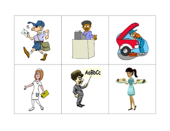 French Writing and Spelling Activity with Jobs and Professions