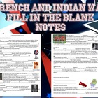 French and Indian War Fill in the Blank Notes