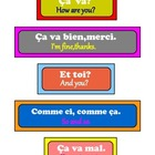French basic conversation flashcards .