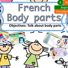 French body parts, le corps for beginners