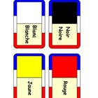 French colors dominoes  ,colours dominoes,6 different colors.MFL