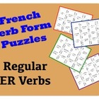 "French ""er"" Verb Puzzle Activity"
