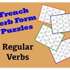 French &quot;er, ir, re&quot; Verb Puzzle Activity