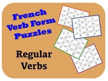 "French ""er, ir, re"" Verb Puzzle Activity"