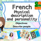 French physical and character description for beginners, d