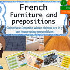 French preposition and furniture, meubles et prépositions