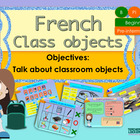 French school objects for beginners, les objets de la classe