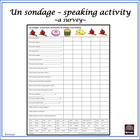 "French – ""un sondage""/survey – Oral Speech Activity"