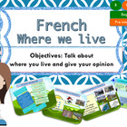 French, where we live for beginners, où nous habitons