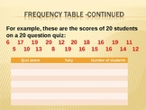 Frequency table and pie chart powerpoint