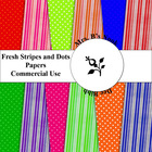 Fresh Stripes and Dots Papers - CU OK