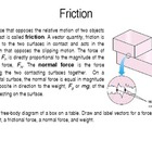 Friction, Static and Kinetic Friction