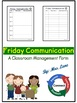 Friday Communication (Classroom Management Form)