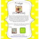 Fridge Facts {Kwanzaa}