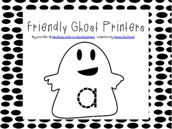 Friendly Ghosts Alphabet Tracers
