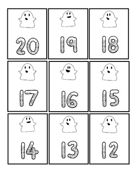 Friendly Ghosts Ten Frame Math Station {Freebie}