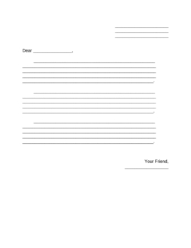 Friendly Letter template, simple
