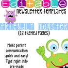 Newsletter Templates: Friendly Monster Theme