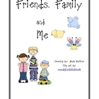 Friends, Family, and Me Literacy Activities