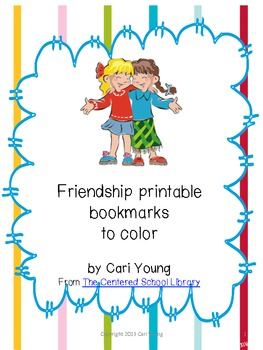 Friendship Printable Bookmarks to Color