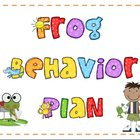 Frog Behavior Plan