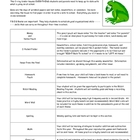 Frog Binder Introduction Letter