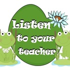 Frog Classroom Behavior Rules - Posters