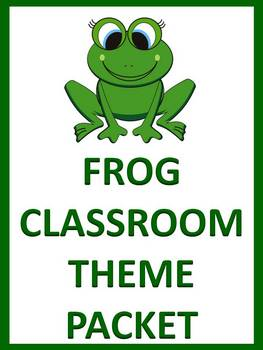Frog Classroom Theme Packet - Back to School
