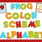 Frog Color Scheme Alphabet Mini Posters