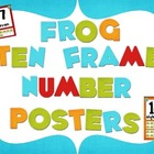 Frog Color Scheme Number Mini Posters (Ten Frame)