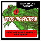 Frog Dissection. Easy to use format!