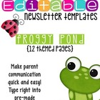 Newsletter Templates (12 included): Frog Friends