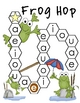 Frog Hop Vowel Recognition File Folder Game
