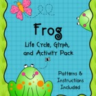 Frog Life Cycle - Frog Glyph - Frog Activity Pack - Science