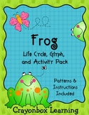 Frog, Frog Life Cycle - Frog Glyph - Frog Activity Pack - Science